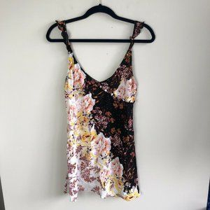 Free People Lauria Slip Dress In Two Tone Floral